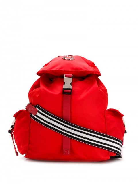 Moncler - foldover top backpack - women - Polyamide/Leather - One Size - Red