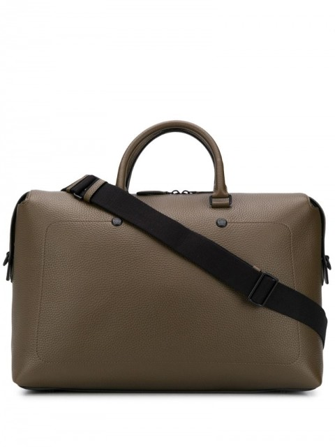 Mulberry - City Weekender logo holdall - men - Leather - One Size - Green