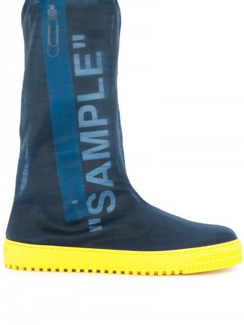 Off-White - Sample boots - men - Rubber/Polyester - 41, 43, 44 - Blue