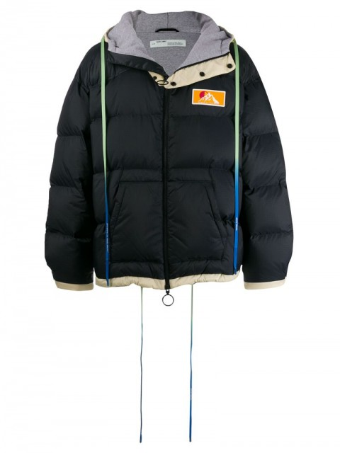 Off-White - padded puffer jacket - men - Feather Down/Polyamide/Polyester - L - Blue