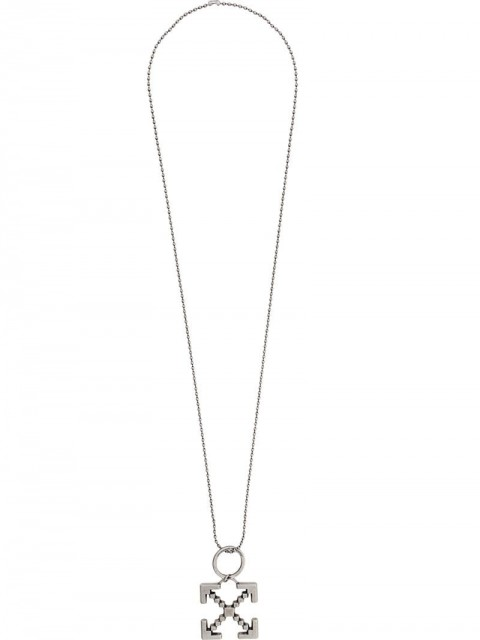 Off-White - arrow necklace - men - metal - One Size - SILVER
