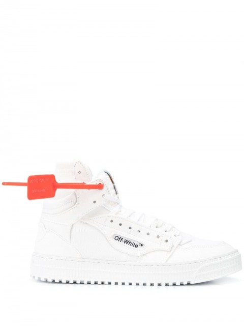 Off-White - Off-Court high-top sneakers - men - Cotton/Rubber - 41 - White
