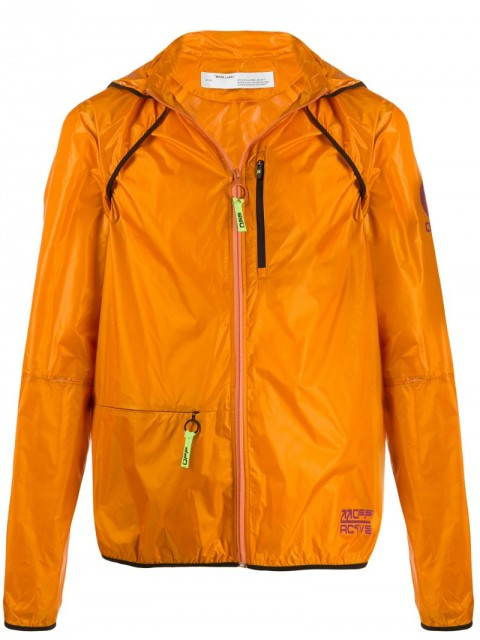 Off-White - lightweight hooded jacket - men - Polyamide/Polyester - S - ORANGE