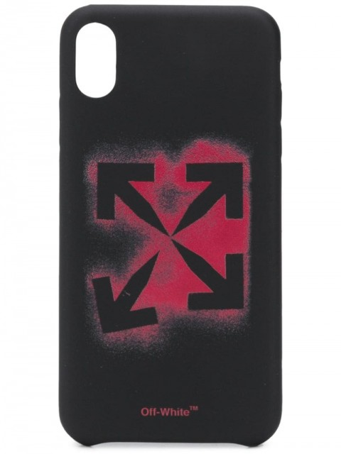 Off-White - Stencil iPhone XS Max case - men - Acrylic - One Size - Black