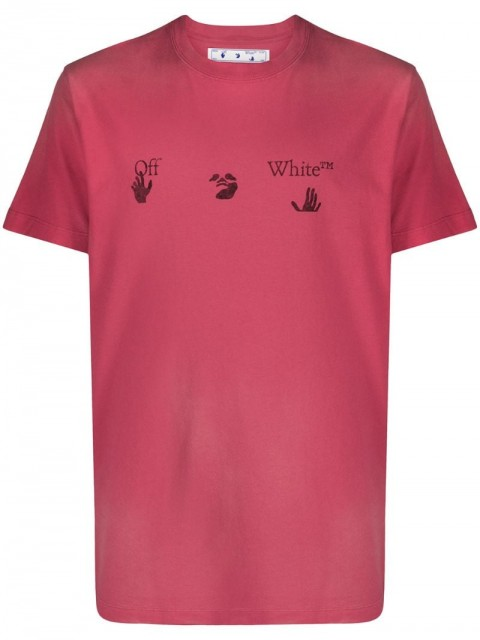 Off-White - Big Logo faded-effect T-shirt - men - Cotton - S, M, L, XL, XXL - PINK