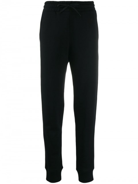 Paco Rabanne - contrast logo trousers - women - Cotton - M, XL - Black