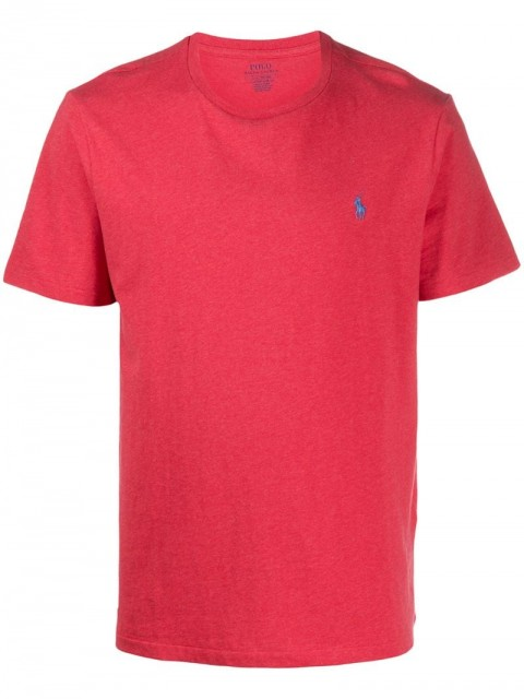 Polo Ralph Lauren - logo-embroidered crew neck T-shirt - men - Cotton - S - PINK