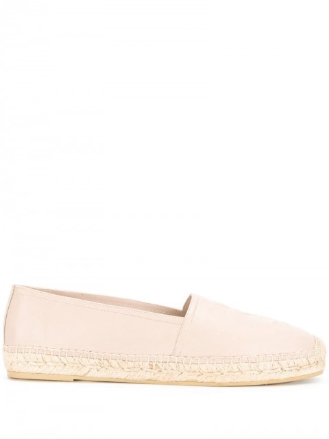 Saint Laurent - monogram espadrilles - women - Rubber/Lamb Skin/Leather - 37, 37.5, 36.5, 40 - PINK