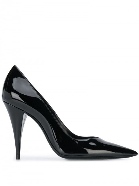 Saint Laurent - Era 100mm pumps - women - Patent Leather/Leather - 36, 38.5, 40, 39, 38, 39.5 - Black