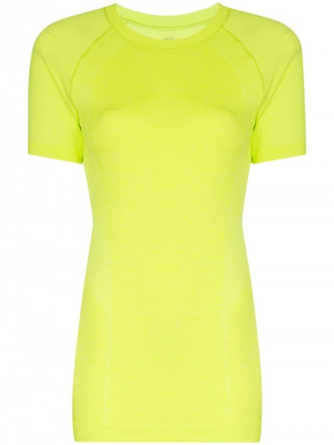 Sweaty Betty - Athlete seamless workout T-shirt - women - Polyamide - XS, S, M - yellow
