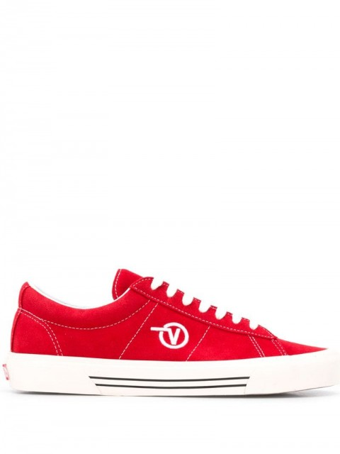 Vans - embroidered logo sneakers - men - Polyester/Suede/Rubber - 4.5, 6, 9 - Red