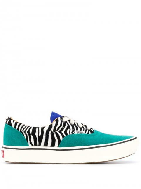 Vans - ComfyCush Era low-top zebra trainers - women - Leather/Polyester/Rubber - 37, 39, 40, 40.5 - Green