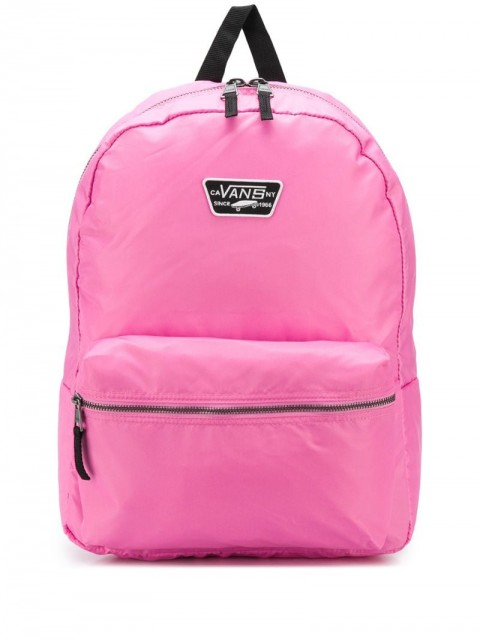 Vans - logo patch backpack - women - Nylon - One Size - PINK