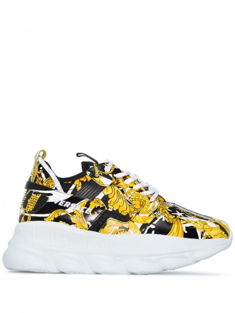 Versace - Chain Reaction 2 sneakers - women - Leather/Rubber/Rubber - 35, 36, 38 - Black