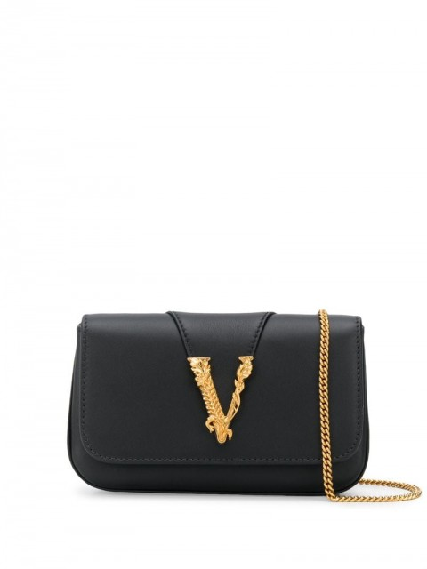 Versace - Virtus clutch - women - Leather/Nappa Leather - One Size - Black
