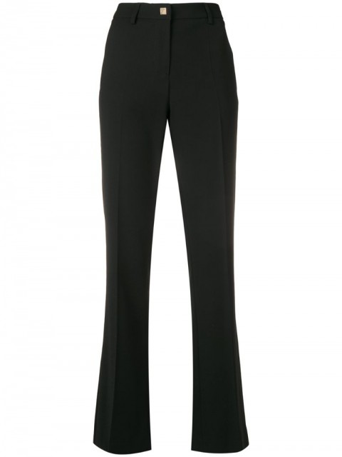 Versace Collection - classic tailored trousers - women - Polyester/Viscose/Spandex/Elastane - 48 - Black
