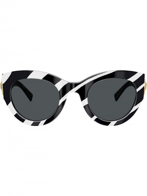 Versace Eyewear - zebra stripe sunglasses - women - Acetate - 51 - Black