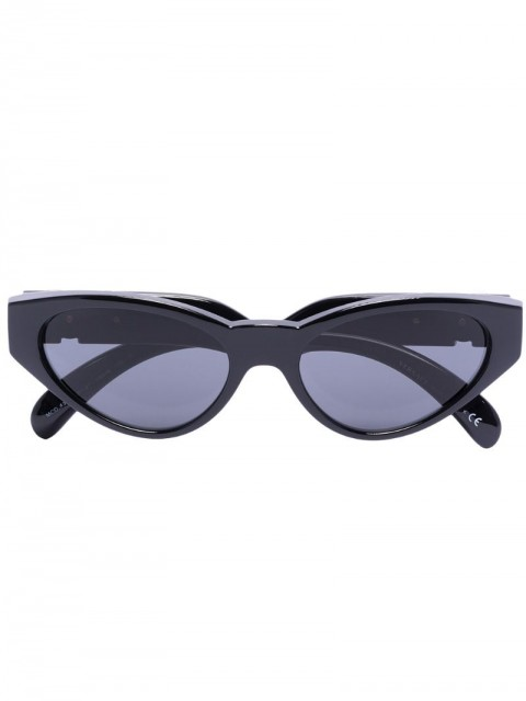 Versace Eyewear - cat eye tinted sunglasses - women - Acrylic/Acetate/Brass - 54 - Black