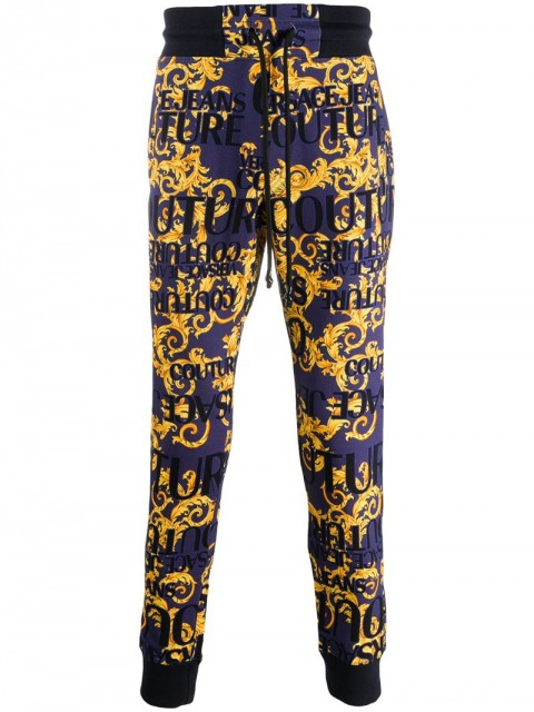 Versace Jeans Couture - baroque print sweatpants - men - Cotton/Polyamide/PolyesterPolyesterElastane - M, S - Blue