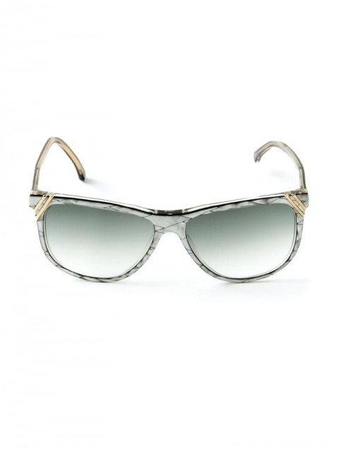 Versace Pre-Owned - square frame sunglasses - women - Plastic - One Size - Grey