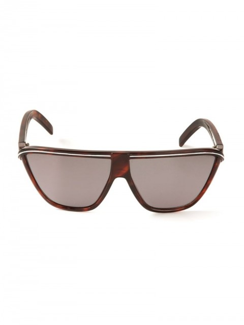 Versace Pre-Owned - flat top sunglasses - women - Plastic - One Size - Brown