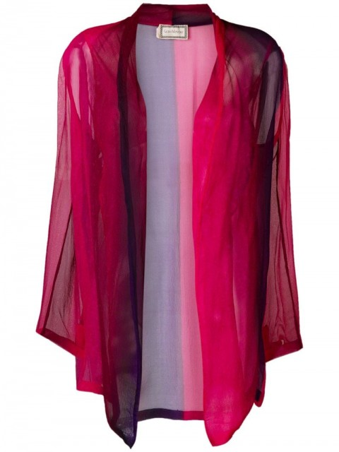 Versace Pre-Owned - 1990's dégreadé sheer top - women - Silk Crepe - 42 - PINK