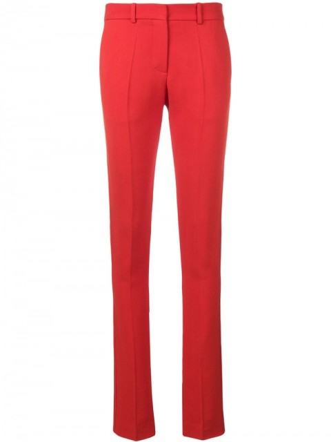 Victoria Beckham - ankle split trousers - women - Wool - 16, 8, 10, 6, 12 - Red