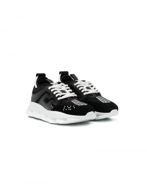Young Versace - Reaction sneakers - kids - Calf Leather/Polyamide/Spandex/Elastane/Rubber - 25, 28, 33, 34 - Black