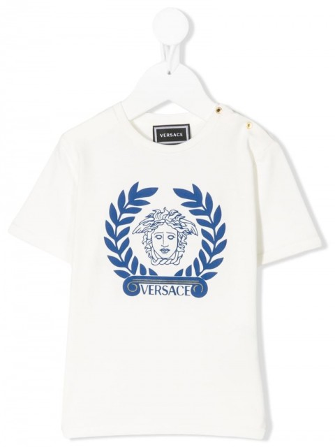 Young Versace - medusa logo relaxed fit T-shirt - kids - Cotton/Spandex/Elastane - 18, 3 - White