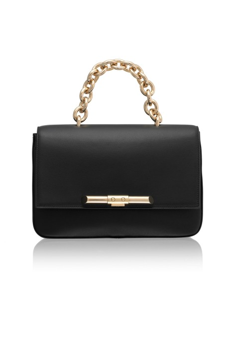 Redford Black Leather Shoulder Bag