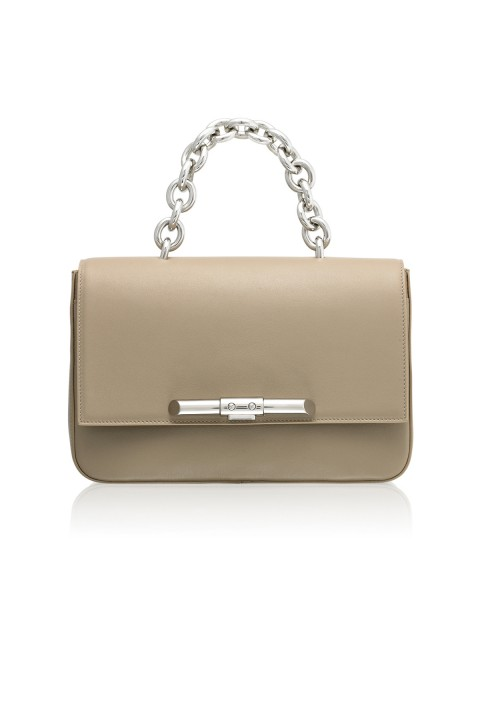 Redford Linen Beige Leather Shoulder Bag