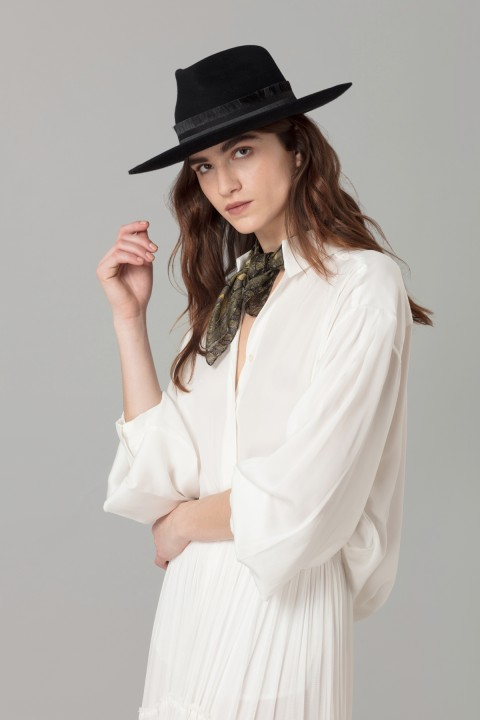Amanda Wakeley Black Fedora Hat