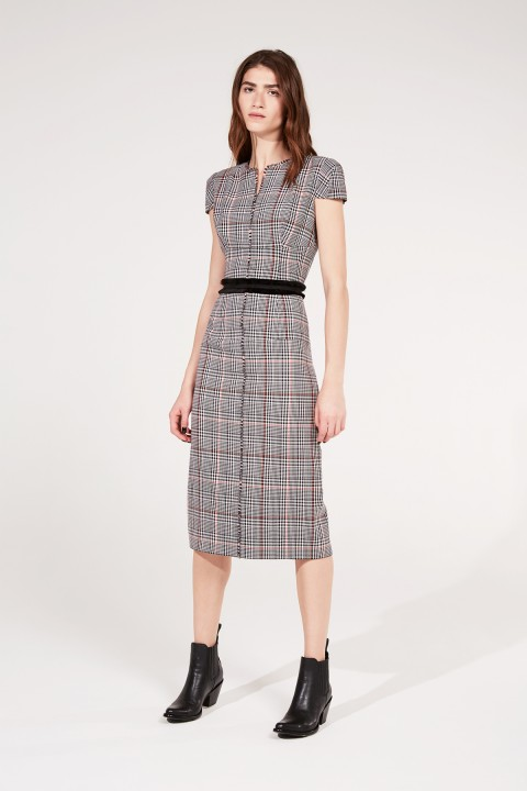 Prince Of Wales Fitted Dress