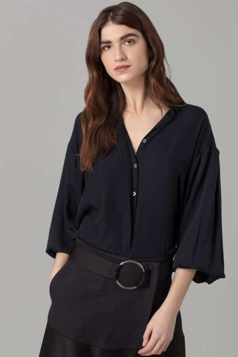 Amanda Wakeley Midnight Georgette Shirt