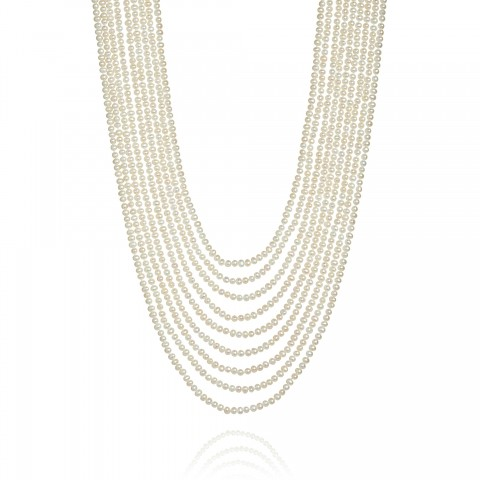 Cascading White Pearl Necklace