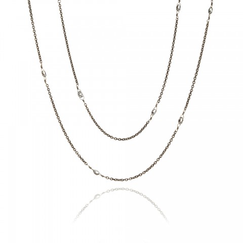 Eclipse Diamond Briolette Chain